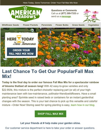 Final Hours To Order Fall Max Mix - Get It Before It's Gone