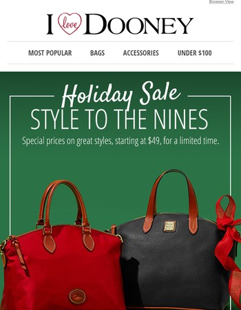 Holiday Sale: Style to the Nines