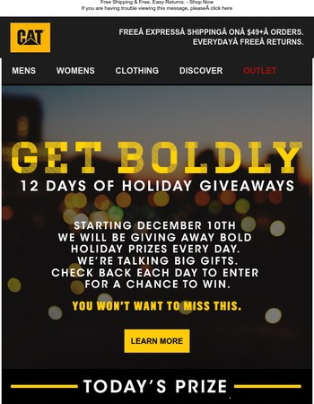 Starts Now: FREE Gifts Every Day
