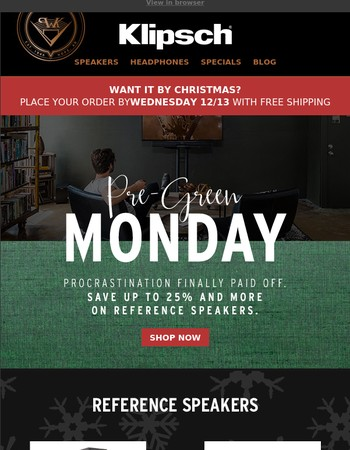 PRE-GREEN MONDAY DEALS | Get Premium Audio for the Holidays