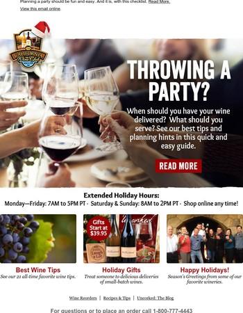 Ultimate Pre-Party Wine Checklist