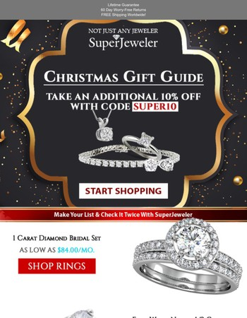 Checkout Our Christmas Gift Guide | Plus EXTRA 10% Savings