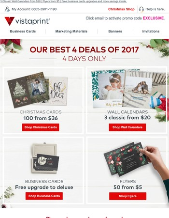 Don't miss out on the best deals of 2017.