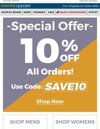 Special Offer For You - 10% OFF Your Order