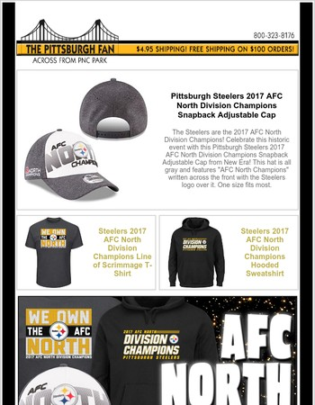 Pittsburgh Steelers Have Clinched a Playoff Spot - New Merchandise Available