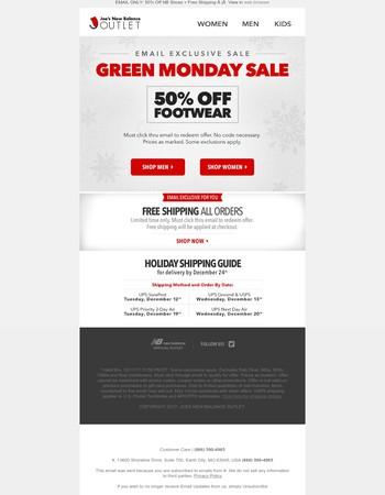 24 Hour Exclusive: BIG Green Monday Sale