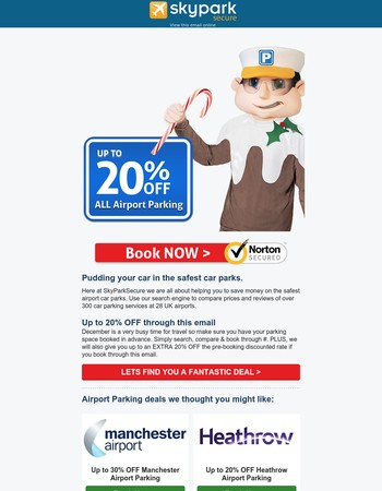 Pudding your car in the safest car parks  � ✈�  Up to 20% OFF Airport Parking