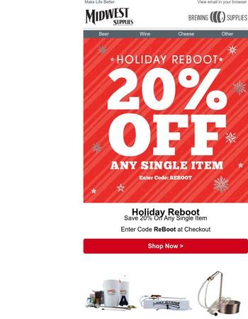 20% Off Any Single Item  Keeping Spirits Bright