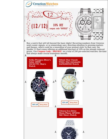 12.12 Sale – Up to 85% off on that perfect watch!!