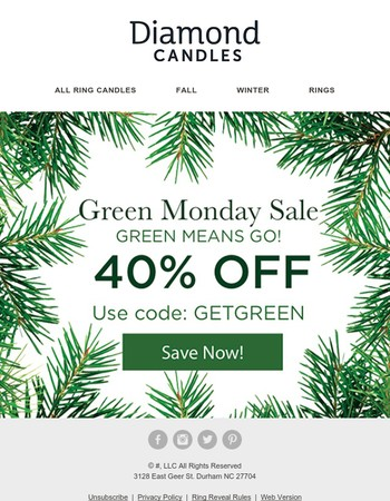 Green Monday Is Here! | 40% OFF