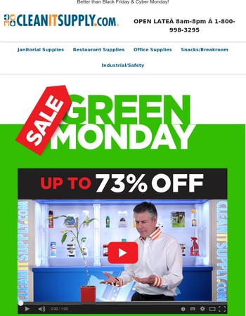 GREEN MONDAY - Up to 73% OFF plus FREE Shipping - Starts Now!