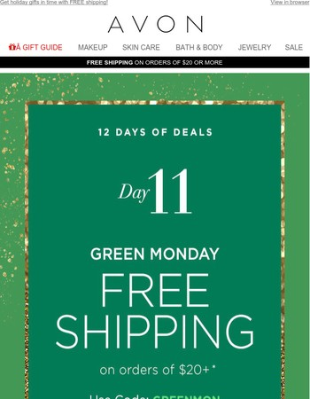 Day 11! FREE Shipping - Hurry, Get Your Gifts In Time!