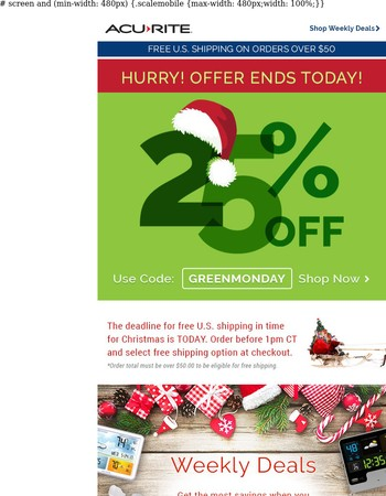 25% OFF. Don't forget to redeem!