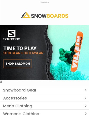 2018 Salomon Gear & Outerwear | Save Up To 30% OFF!