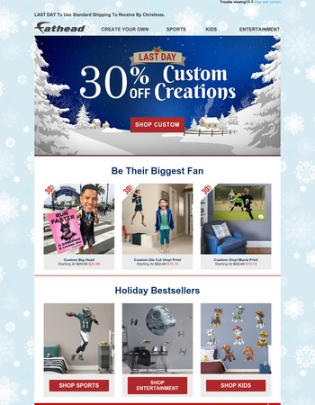 Hurry! 30% Off Custom Creations Ends Tonight!