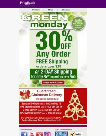 Green Monday SALE - Xmas Shipping Ends Soon