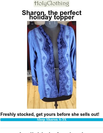 Elegant Sharon Jacket. You'll ♥ her for the Holidays