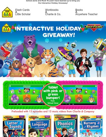 Enter for a Chance to Win an Interactive Learning Prize Package!