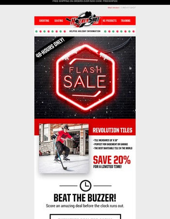 FLASH SALE: SAVE BIG on Synthetic Ice - Revolution Tiles!