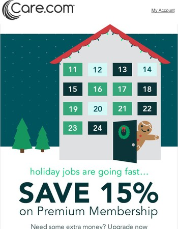 Unwrap holiday jobs with 15% off Premium