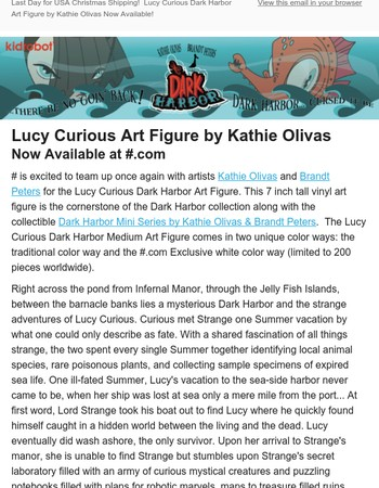 New Lucy Curious Art Figure by Kathie Olivas Now Available in Two Colors at Kidrobot.com!