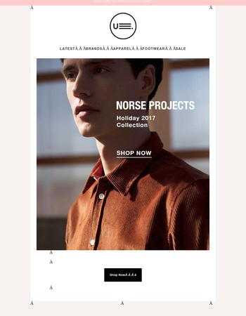 NORSE PROJECTS ー New Holiday 2017 Collection
