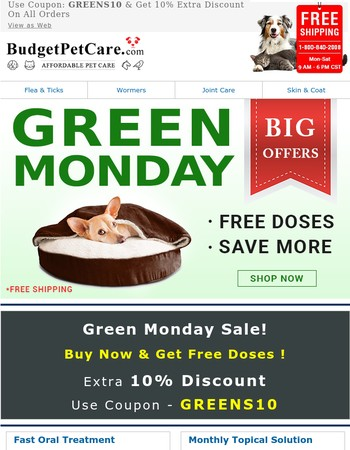 It's Green Monday! Extra 10% Off + Free Doses + Free Shipping