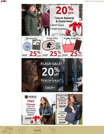 20% off Horseware Ireland & More Savings - up to 25% off