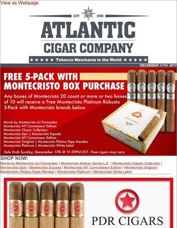 Monday Blaster | Montecristo's, Partagas 1845 Clasico's & PDR