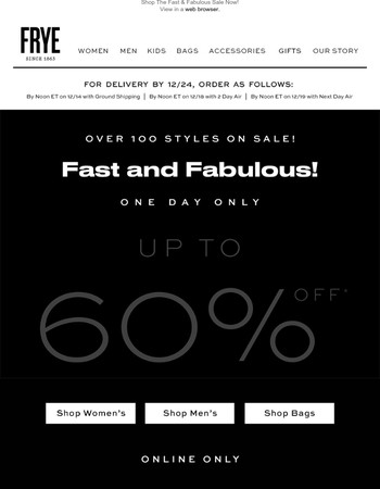 Up to 60% Off Over 100 Styles