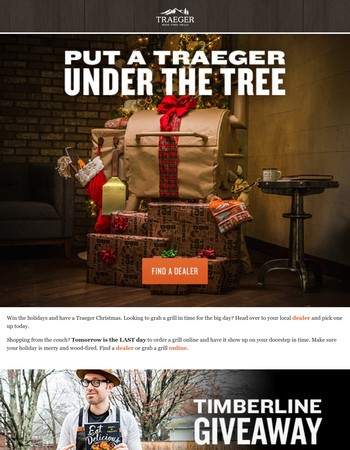 Put A Traeger Under The Tree