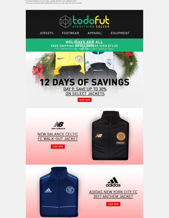 12 Days of Saving | Save Up to 30% on Select Jackets