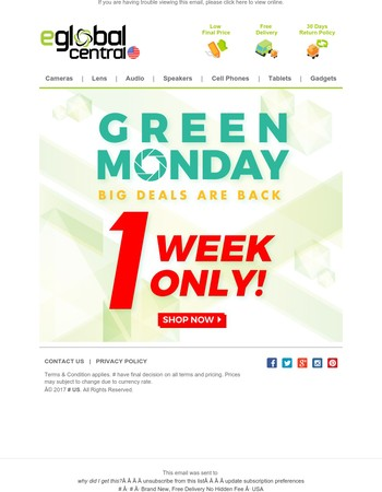 Green Monday Sale! The Final Discount of The Year, 1 Week Only!