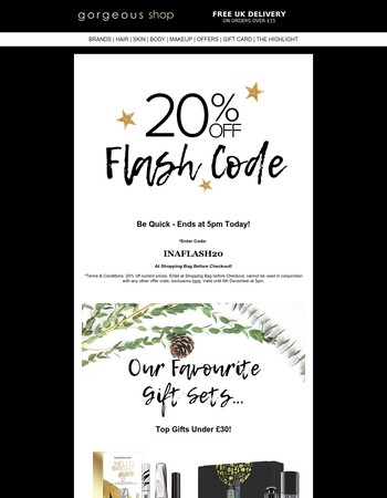 20% Off Ends at 5pm Today + WIN £800 Beauty Bundle!