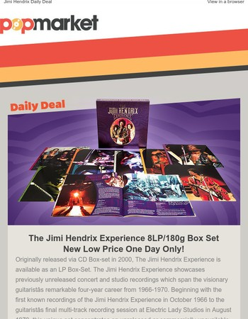 The Jimi Hendrix Experience 8LP Box Set New Low Price!