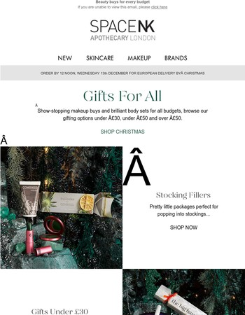 Show-stopping gifts