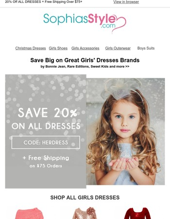 Almost Over! Save Big on Girls Dresses