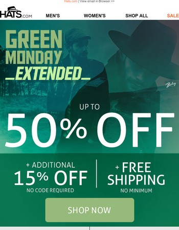 Green Monday Savings Extended!