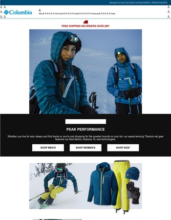 Master the mountain with Titanium ski gear.