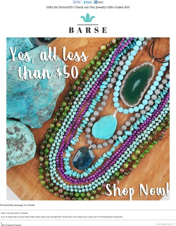 Gifts for DAAAAYS! Check out Our Jewelry Gifts Under $50