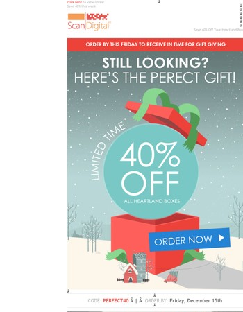 40% Off The Perfect Gift - Last Week To Order
