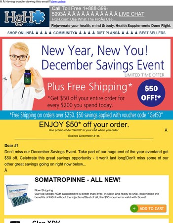 End of the year savings – Get $50 Off today.