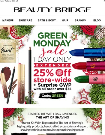 Green Monday Sale Extended!