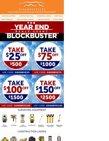 Year End Blockbuster Deals, Save This Year