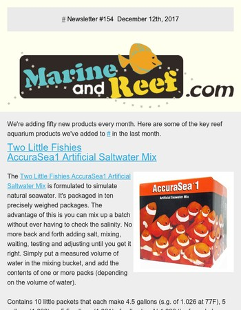 MarineAndReef.com - New Reef Aquarium Products