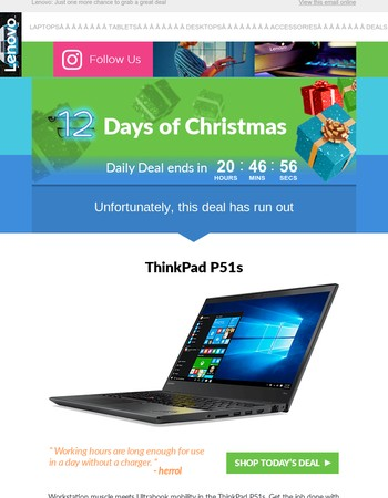 ⚠ (Alert!) Today Is the Last Day for the 12 Days of Christmas Daily Deals