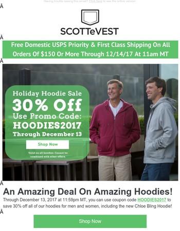 30% off all hoodies plus NEW PRODUCT ALERT: Chloe Bling Hoodie!