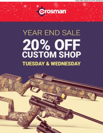 20% off the Custom Shop