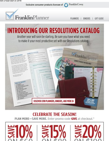 Our Resolutions Catalog is Here