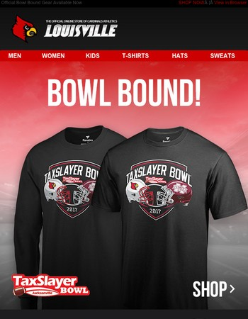 Louisville Cardinals Are Bowl Bound! Get the Official Gear Today